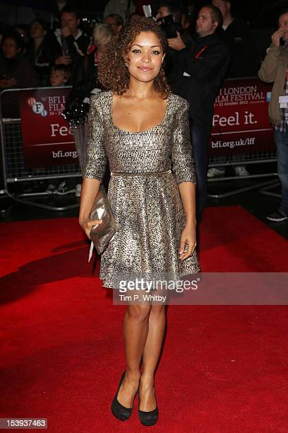 Antonia Thomas attends the premiere of 'Spike Island' during the 56th BFI London Film Festival at Odeon West End on October 11 2012 in London England