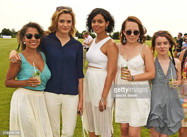 Antonia Thomas Wallis Day Georgina Campbell Alice Sykes and Rosie Day attend the Audi Polo Challenge 2015 at Cambridge County Polo Club on July 3...