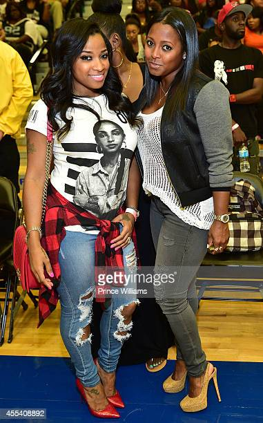 Antonia 'Toya' Wright and Keshia Knight Pulliam attend the LUDA vs YMCMB celebrity basketball game at Georgia State University Sports Arena on August...