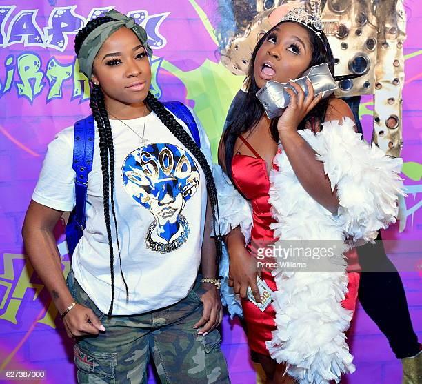 Antonia 'Toya' Wright and Reginae Carter attend REginae Carters Birthday Party at Suite Lounge on December 2 2016 in Atlanta Georgia