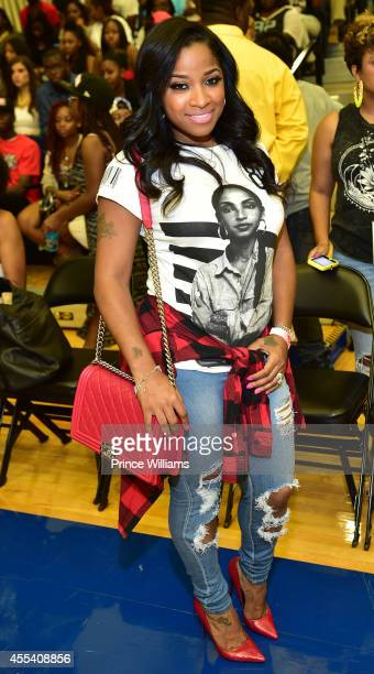 Antonia 'Toya' Wright attends the LUDA vs YMCMB celebrity basketball game at Georgia State University Sports Arena on August 31 2014 in Atlanta City