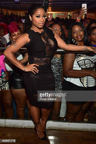 Antonia 'Toya' Wright attends the official Bronner Brothers hair show after party >> at Compound on August 2 2014 in Atlanta Georgia
