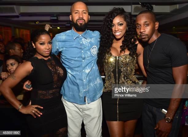 Antonia ' Toya ' Wright Kenny Burns Porsha Williams and Ruggs attend the official Bronner Brothers hair show after party >> at Compound on August 2...