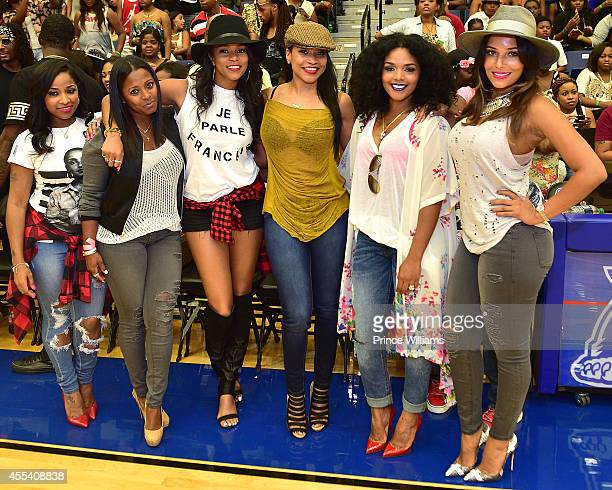 Antonia 'Toya' Wright Keshia Knight Pulliam Letoya Luckett Monyetta Shaw Rasheeda and Eudoxie Agnan attends the LUDA vs YMCMB celebrity basketball...