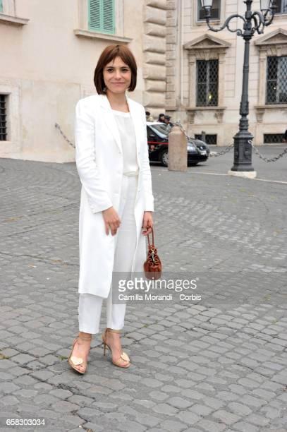 Antonia Truppo arrives at the 61 David Di Donatello nominees presentation at Palazzo del Quirinale on March 27 2017 in Rome Italy
