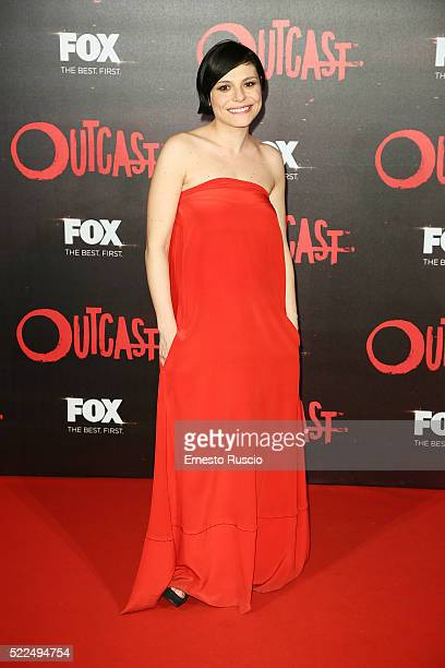 Antonia Truppo attends the 'Outcast' premiere at Auditorium Della Conciliazione on April 19 2016 in Rome Italy
