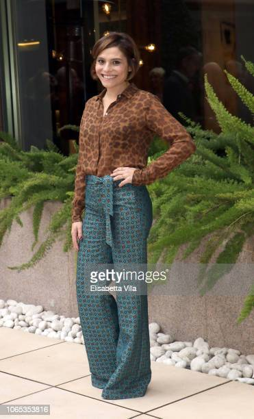 Antonia Truppo attends the 'Se Son Rose' photocall at Visconti Hotel on November 26 2018 in Rome Italy