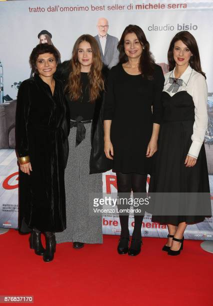 Antonia Truppo Ilaria Brusadelli Franecsa Archibugi and Barbara Ronchi attend 'Gli Sdraiati' photocall on November 20 2017 in Milan Italy