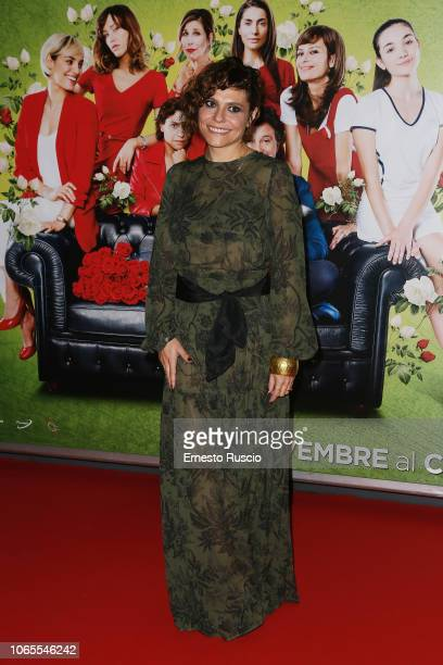 Antonia Truppo walks the red carpet ahead of the 'Se Son Rose' premiere at Cinema Adriano on November 26 2018 in Rome Italy
