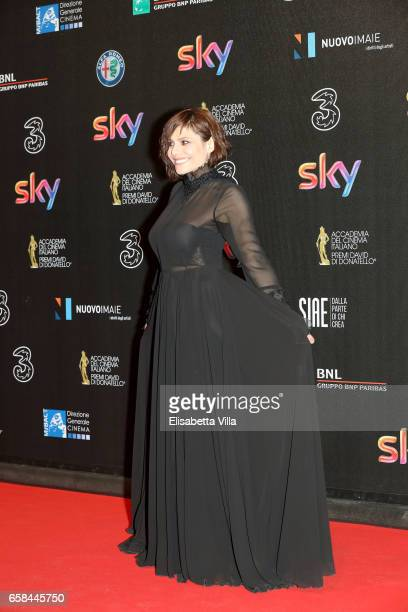 Antonia Truppo walks the red carpet of the 61 David Di Donatello on March 27 2017 in Rome Italy