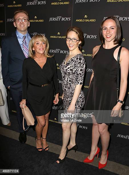 Antonia Valli and Frankie Valli Family attend a special New York screening reception for 'Jersey Boys' hosted by Angelo Galasso at Angelo Galasso on...