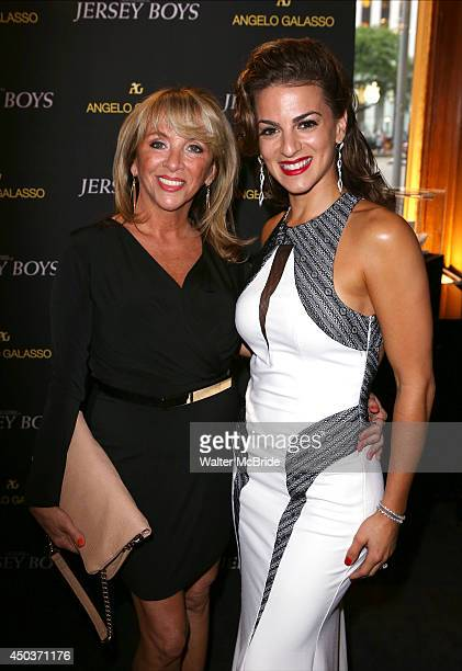 Antonia Valli and Renee Marino attends a special New York screening reception for 'Jersey Boys' hosted by Angelo Galasso at Angelo Galasso on June...