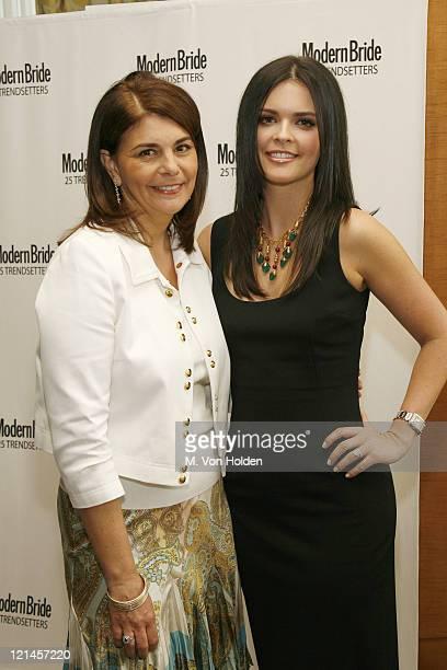 Antonia van der Meer and Katie Lee Joel during Modern Bride's 25 Trendsetters of 2006 Awards Dinner at Ritz Carlton Battery Park in Manhattan, New...
