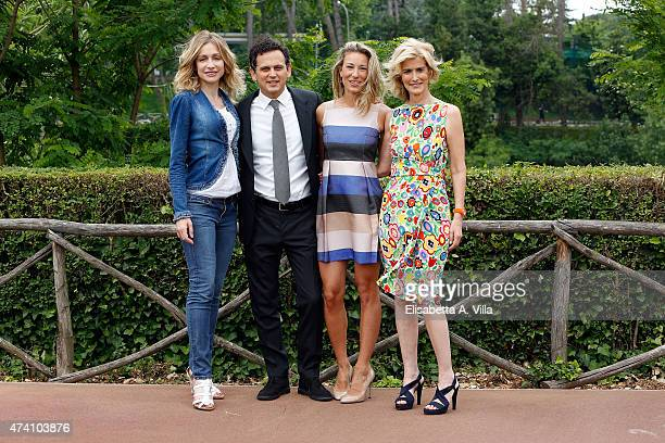 Antonia Varini Alessio Zucchini Mia Ceran and Livia Azzariti attend 'Uno Mattina Estate' Tv Show photocall at RAI on May 20 2015 in Rome Italy