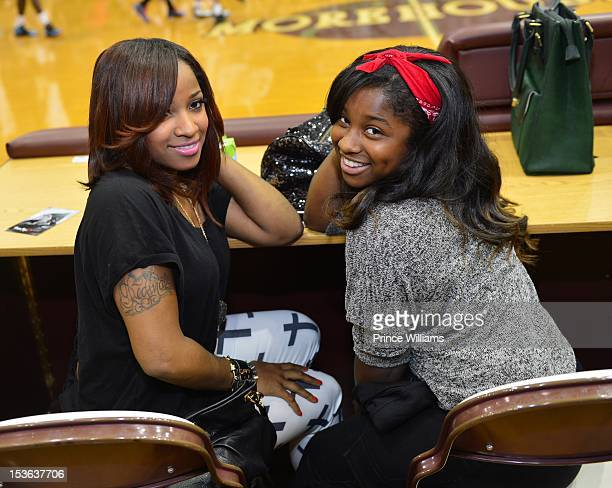 Antonia Wright and Reginae Carter attend the celebrity basketball game at Morehouse College Forbes Arena on September 30 2012 in Atlanta City