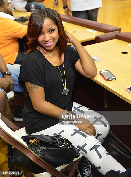Antonia Wright attends the celebrity basketball game at Morehouse College Forbes Arena on September 30 2012 in Atlanta City
