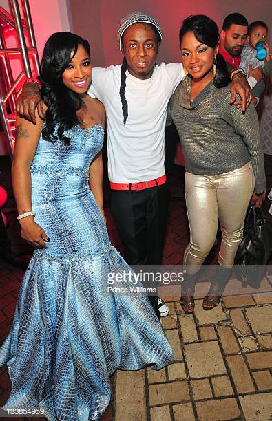 Antonia Wright Dewayne Lil Wayne Carter and Phaedra Parks attend Reginae Carter's 13th Birthday party at at The Callanwolde Mansion on November 19...