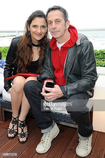 Antonia Zegers and Alfredo Castro attend the Lancia Cafe during the 67th Venice International Film Festival on September 7 2010 in Venice Italy