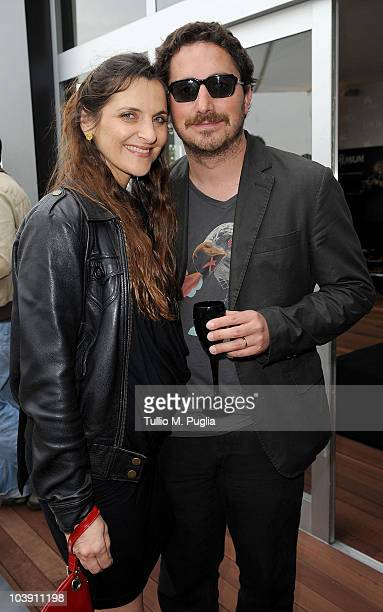 Antonia Zegers and Pablo Larrain attends the Lancia Cafe during the 67th Venice International Film Festival on September 7 2010 in Venice Italy