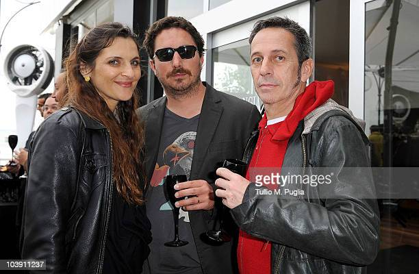Antonia Zegers Pablo Larrain and Alfredo Castro attends the Lancia Cafe during the 67th Venice International Film Festival on September 7 2010 in...