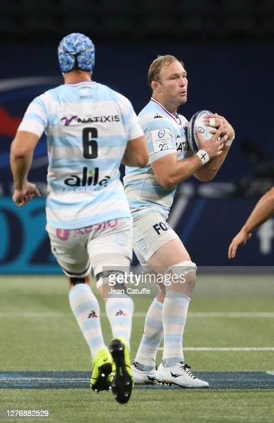 Antonie Claassen of Racing 92 during the Heineken Champions Cup Semi Final match between Racing 92 and Saracens at Paris La Defense Arena on...