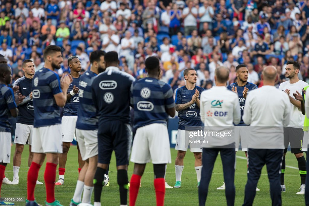 Antonie Griezmann and France Team during the friendly football match between France and USA at the at the Parc Olympique lyonnais stadium in Decines-Charpieu, near Lyon on June 9, 2018.