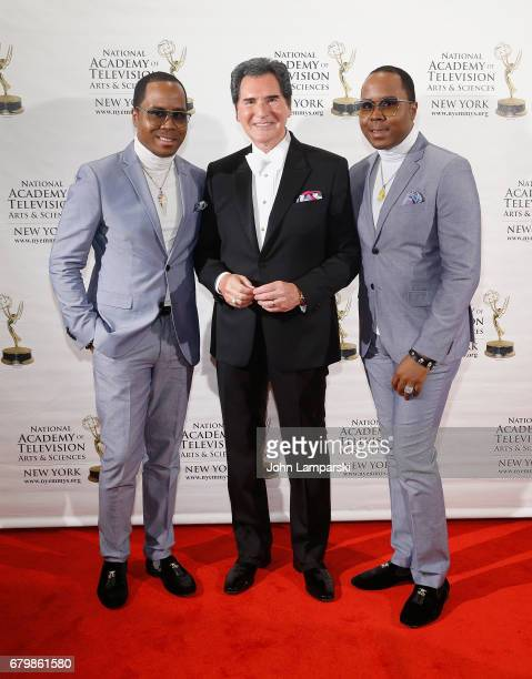 Antonie Von Boozier Ernie Anastos and Andre Von Boozier attend 60th Anniversary New York Emmy Awards Gala at Marriott Marquis Times Square on May 6...