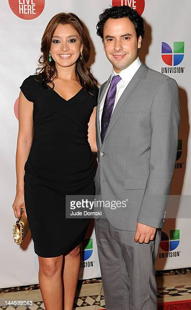 Antonietta Collins and Alejandro Berry anchors of Univision Deportes Extra at Cipriani 42nd Street on May 15 2012 in New York City