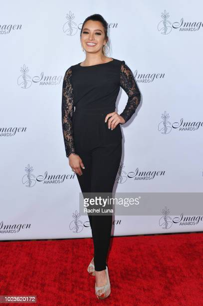 Antonietta Collins arrives at the 33rd Annual Imagen Awards held at the JW Marriott Los Angeles at LA LIVE on August 25 2018 in Los Angeles California