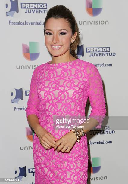 Antonietta Collins attends Univisions Premios Juventud Awards Nominees press conference at Univision Headquarters on May 9 2013 in Miami Florida