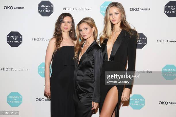 Antoniette Costa Elizabeth Sulcer and Kristina Romanova attends Humans of Fashion Foundation joins the conversation to end sexual harassment and...