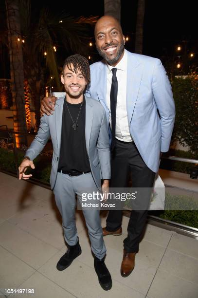 Antonii and John Salley attend the Animal Equality Inspiring Global Action Gala at The Beverly Hilton Hotel on October 27 2018 in Beverly Hills...