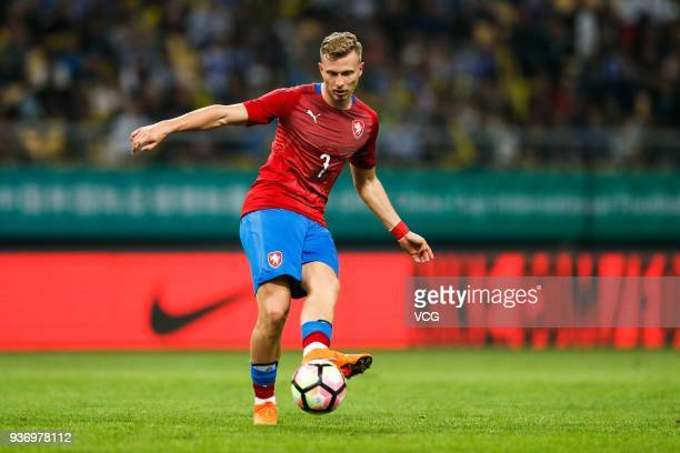 Antonin Barak of Czech Republic drives the ball during the 2018 China Cup International Football Championship match between Uruguay and Czech...