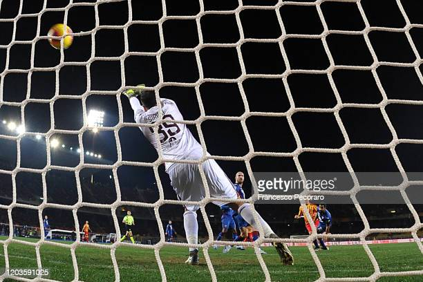 Antonin Barak of US Lecce scores the 20 goal during the Serie A match between US Lecce and Torino FC at Stadio Via del Mare on February 02 2020 in...