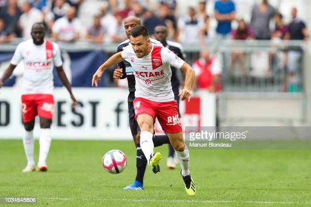 Antonin Bobichon of Nimes during the French Ligue 1 match between Bordeaux and Nimes on September 16 2018 in Bordeaux France