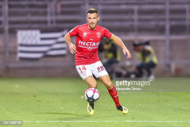 Antonin Bobichon of Nimes during the Ligue 1 match between Nimes and Guingamp at Stade des Costieres on September 26 2018 in Nimes France
