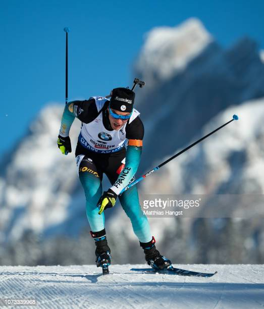 Antonin Guigonnat of France competes in the IBU Biathlon World Cup Men's 10 km Sprint on December 14 2018 in Hochfilzen Austria