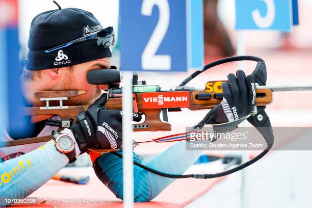 Antonin Guigonnat of France during the IBU Biathlon World Cup Men's and Women's Pursuit on December 9 2018 in Pokljuka Slovenia
