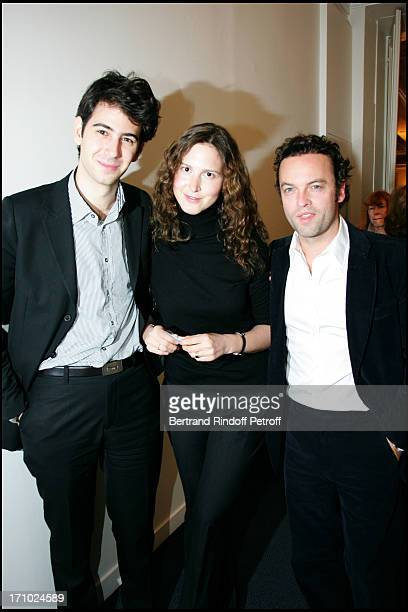 Antonin Levy, Justine Levy and her husband Patrick Mille - Arielle Dombasle is made Knight of the Order of Legion of Honor by the minister of culture...