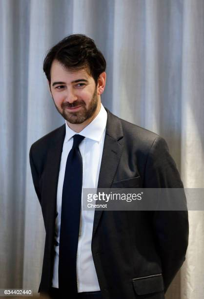 "Antonin Levy , lawyer for Francois Fillon, French presidential election candidate for the right-wing ""Les Republicains"" party attends a press..."