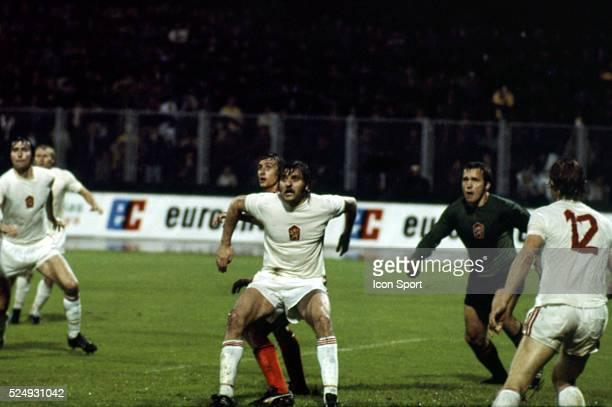 Antonin Panenka and Ivo Viktor of Czechoslovakia during the European Championship between Czechoslovakia and Holland in Stadium Maksimir Zagreb...