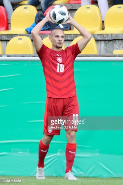 Antonin Rusek of U20 Czech Republic during the U20 friendly match between Germany and Czech Republic on September 7 2018 in Elversberg Germany