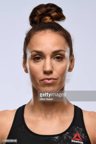 Antonina Shevchenko of Kyrgyzstan poses for a portrait during a UFC photo session on July 31 2019 in Newark New Jersey