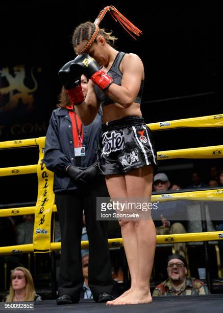 Antonina Shevchenko takes on Claire Baxter in a Womens Super Lightweight Title bout on April 21 2018 at Lion Fight 42 at the Fox Theater of Foxwoods...