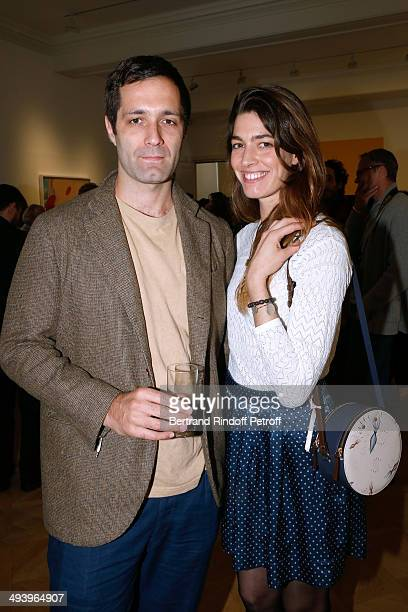 Antonine Peduzzi and her brother Nicolas attend the Pharrell Williams' Private Concert at Galerie Perrotin in Paris on May 26 2014 in Paris France