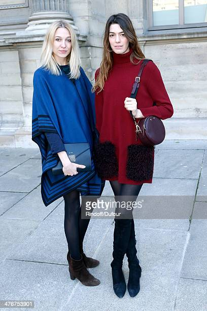 Antonine Peduzzi and Luisa Orsini attend the Louis Vuitton show as part of the Paris Fashion Week Womenswear Fall/Winter 20142015 on March 5 2014 in...