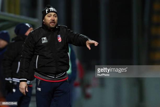 Antonino Asta head coach of Teramo Calcio 1913 during the Lega Pro 17/18 group B match between Teramo Calcio 1913 and Alma Juventus Fano 1906 at...