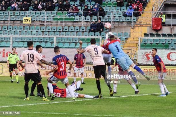 Antonino Calandra during the serie D match between SSD Palermo and ASD Troina at Stadio Renzo Barbera on December 22, 2019 in Palermo, Italy.