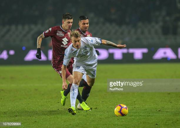 Antonino La Gumina of Empoli during the Serie A football match between Torino FC and Empoli FC at Olympic Grande Torino Stadium on December 26 2018...