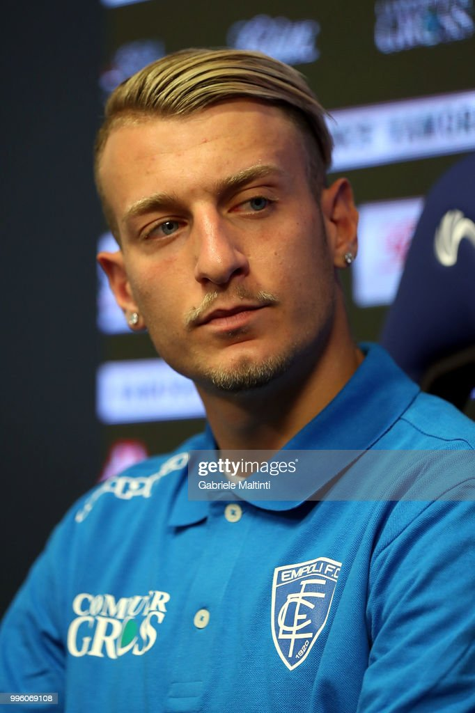 Antonino La Gumina of Empoli FC during a press conference on July 11, 2018 in Empoli, Italy.
